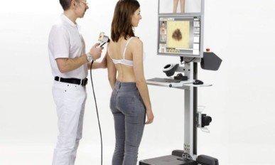 Badanie zmian skórnych Videodermatoskopem