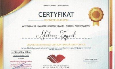 AG- Certyfikat (usta 1)