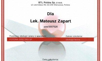 Fotona- certyfikat